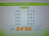 Wii Fit Plus 12月31日のバランス年齢 32歳 デュアルバランステスト結果 所要時間24