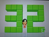 Wii Fit Plus 12月31日のバランス年齢 32歳