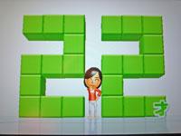 Wii Fit Plus 1月8日のバランス年齢 22歳