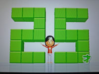 Wii Fit Plus 1月9日のバランス年齢 25歳
