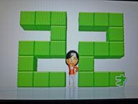 Wii Fit Plus 1月10日のバランス年齢 22歳