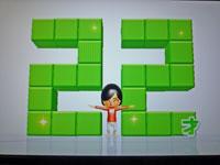 Wii Fit Plus 1月13日のバランス年齢 22歳