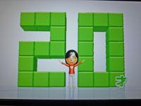 Wii Fit Plus 1月16日のバランス年齢 20歳