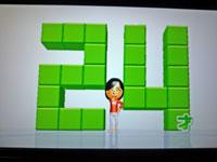 Wii Fit Plus 1月17日のバランス年齢 24歳