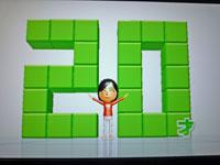 Wii Fit Plus 1月19日のバランス年齢 20歳