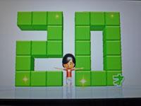 Wii Fit Plus 2011年1月21日のバランス年齢 20歳