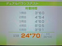 Wii Fit Plus 2011年1月23日のバランス年齢 35歳 デュアルバランステスト結果 所要時間24