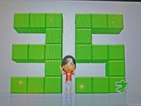 Wii Fit Plus 2011年1月23日のバランス年齢 35歳