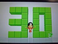 Wii Fit Plus 2011年1月30日のバランス年齢 30歳