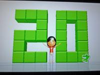 Wii Fit Plus 2011年1月31日のバランス年齢 20歳