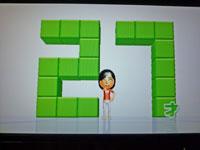 Wii Fit Plus 2011年2月4日のバランス年齢 27歳
