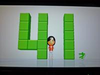 Wii Fit Plus 2011年2月12日のバランス年齢 41歳