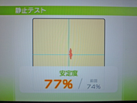 Wii Fit Plus 2011年2月13日のバランス年齢 23歳 静止テスト結果 安定度77%