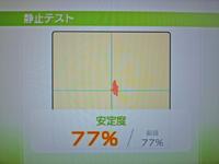 Wii Fit Plus 2011年2月14日のバランス年齢 21歳 静止テスト結果 安定度77%