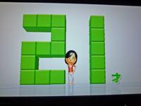 Wii Fit Plus 2011年2月14日のバランス年齢 21歳