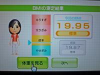Wii Fit Plus 2011年2月18日のBMI 19.95