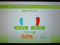 Wii Fit Plus 2011年2月20日のバランス年齢 35歳 ウォーキングテスト結果バランス度52%