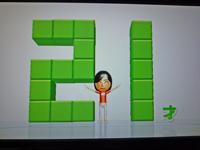 Wii Fit Plus 2011年2月27日のバランス年齢 21歳