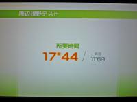 Wii Fit Plus 2011年2月28日のバランス年齢 24歳 周辺視野テスト結果 所要時間17