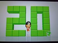 Wii Fit Plus 2011年3月2日のバランス年齢 20歳