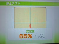 Wii Fit Plus 2011年3月7日のバランス年齢 31歳 静止テスト結果 安定度65%