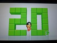Wii Fit Plus 2011年3月17日のバランス年齢 20歳