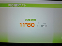 Wii Fit Plus 2011年3月20日のバランス年齢 20歳 周辺視野テスト結果 所要時間11