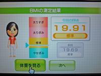 Wii Fit Plus 2011年4月1日のBMI 19.91