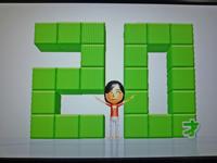 Wii Fit Plus 2011年4月3日のバランス年齢 20歳