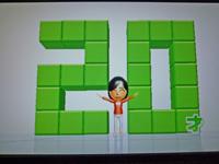 Wii Fit Plus 2011年4月6日のバランス年齢 20歳
