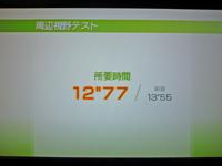 Wii Fit Plus 2011年4月9日のバランス年齢 21歳 周辺視野テスト結果 12