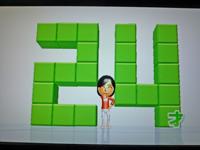 Wii Fit Plus 2011年4月13日のバランス年齢 24歳