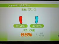 Wii Fit Plus 2011年4月14日のバランス年齢 20歳 ウォーキングテストバランス度86%