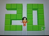 Wii Fit Plus 2011年4月14日のバランス年齢 20歳