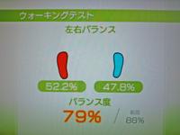 Wii Fit Plus 2011年4月21日のバランス年齢 26歳 ウォーキングテスト結果 バランス度79%