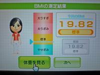 Wii Fit Plus 2011年4月23日のBMI 19.82