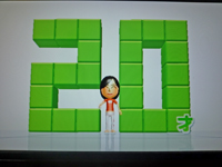 Wii Fit Plus 2011年4月23日のバランス年齢 20歳