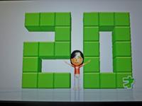 Wii Fit Plus 2011年4月26日のバランス年齢 20歳