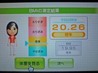Wii Fit Plus 2011年4月28日のBMI 20.26