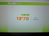 Wii Fit Plus 2011年5月2日のバランス年齢 29歳 周辺視野テスト結果 所要時間 13