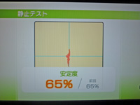 Wii Fit Plus 2011年5月2日のバランス年齢 29歳 静止テスト結果 安定度 65%
