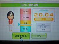 Wii Fit Plus 2011年5月3日のBMI 20.04