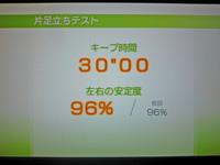 Wii Fit Plus 2011年5月3日のバランス年齢 20歳 片足立ちテスト キープテスト30
