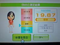 Wii Fit Plus 2011年5月5日のBMI 19.87