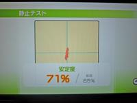 Wii Fit Plus 2011年5月6日のバランス年齢 28歳 静止テスト結果 安定度71%