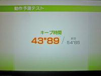 Wii Fit Plus 2011年5月6日のバランス年齢 28歳 動作予測テスト結果 キープ時間43