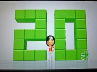 Wii Fit Plus 2011年5月7日のバランス年齢 20歳