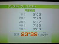 Wii Fit Plus 2011年5月8日のバランス年齢 36歳 デュアルバランステスト結果 所要時間 23