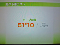 Wii Fit Plus 2011年5月10日のバランス年齢 24歳 動作予測テスト結果 キープ時間51