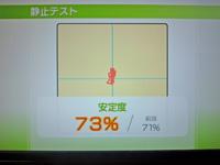 Wii Fit Plus 2011年5月13日のバランス年齢 31歳 静止テスト結果 安定度73%